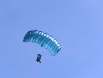 голубой парашют Стоковая Фотография RF