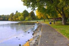 голубой парк озера Стоковые Фотографии RF