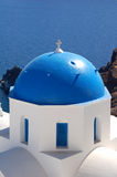 голубой перекрестный купол Стоковые Изображения