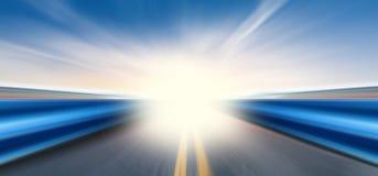 голубой переход скорости неба дороги хайвея стоковое изображение