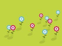 голубой пинк цветков иллюстрация штока