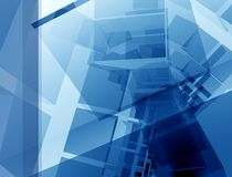 голубой план конструкции Стоковые Изображения