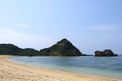 Голубой пляж Lombok Индонесия Стоковые Изображения RF