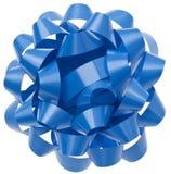голубой подарок смычка живой Стоковое фото RF