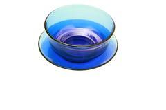 голубой поддонник чашки Стоковое Фото