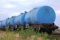 голубой поезд Стоковые Изображения