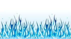 голубой пожар граници Стоковая Фотография RF