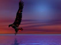 голубой пожар орла иллюстрация штока