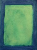 голубой покрашенный зеленый цвет рамки стоковые фотографии rf