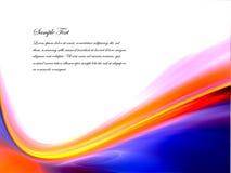 голубой померанцовый шаблон Стоковая Фотография RF
