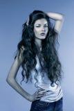 голубой портрет стоковые изображения