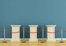 голубой постамент музея Стоковые Фотографии RF