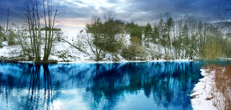 голубой поток Стоковое Изображение RF