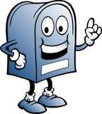 Голубой почтовый ящик Стоковое Изображение