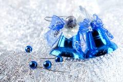 голубой праздник украшения рождества bluebells Стоковое фото RF