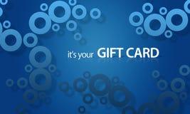 голубой предмет giftcard иллюстрация вектора