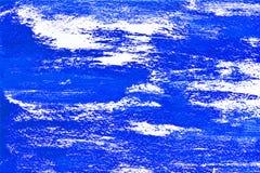Голубой предпосылка покрашенная белизной с brushstrokes Стоковые Фотографии RF