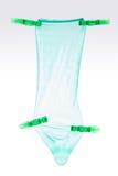 голубой презерватив Стоковая Фотография