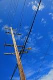 голубой провод неба полюса Стоковые Изображения RF