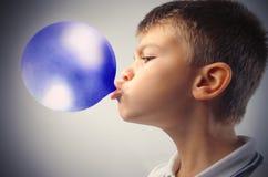 голубой пузырь Стоковое Изображение