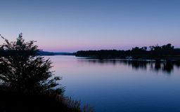голубой рассвет Миссури стоковое изображение