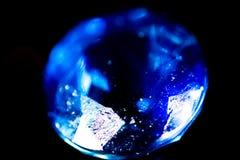 Голубой самоцвет на черной предпосылке Стоковое фото RF