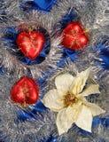 голубой сатин украшения стоковые фотографии rf