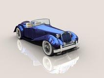 голубой сбор винограда модели автомобиля 3d иллюстрация штока