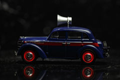 голубой сбор винограда sideview автомобиля Стоковое Фото
