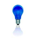 Голубой светильник Стоковое Изображение
