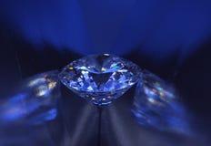 голубой свет диаманта крупного плана Стоковые Изображения