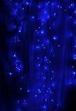 голубой свет рождества Стоковые Фото