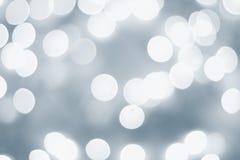 голубой свет bokeh Стоковые Изображения RF
