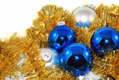 голубой серебр золота Стоковые Изображения