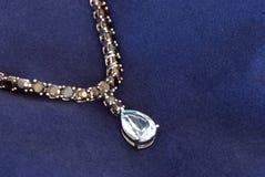 голубой серебр ожерелья Стоковое Фото