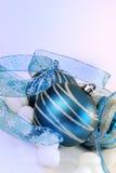 голубой серебр праздника Стоковое Фото