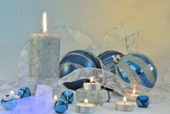 голубой серебр праздника Стоковые Фото