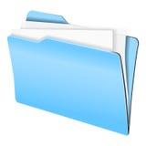 голубой скоросшиватель Стоковая Фотография