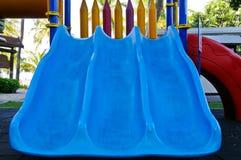 голубой слайдер стоковая фотография