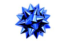 голубой смычок стоковое фото rf