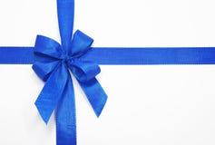 голубой смычок Стоковые Фото