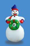 голубой снеговик Стоковая Фотография