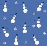 голубой снеговик tileable Стоковые Изображения RF