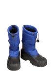 голубой снежок ботинок Стоковое фото RF
