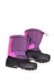 голубой снежок ботинок Стоковая Фотография RF