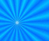 голубой снежок лучей иллюстрация вектора