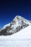 голубой снежок неба пика jungfraujoch Стоковое Изображение