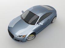 голубой спорт автомобиля Стоковая Фотография