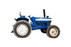 голубой старый трактор Стоковая Фотография
