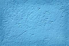 голубой стена текстурированная штукатуркой Стоковое Изображение RF